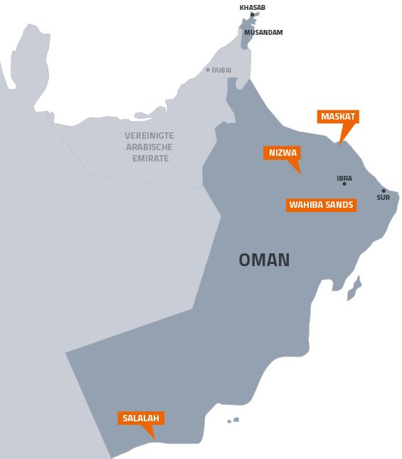 Karte Oman Salalah.Familienurlaub In Oman Mit Kindern Hideaway4you Reisen